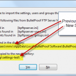 Step #5: Prompting the migration of the Files