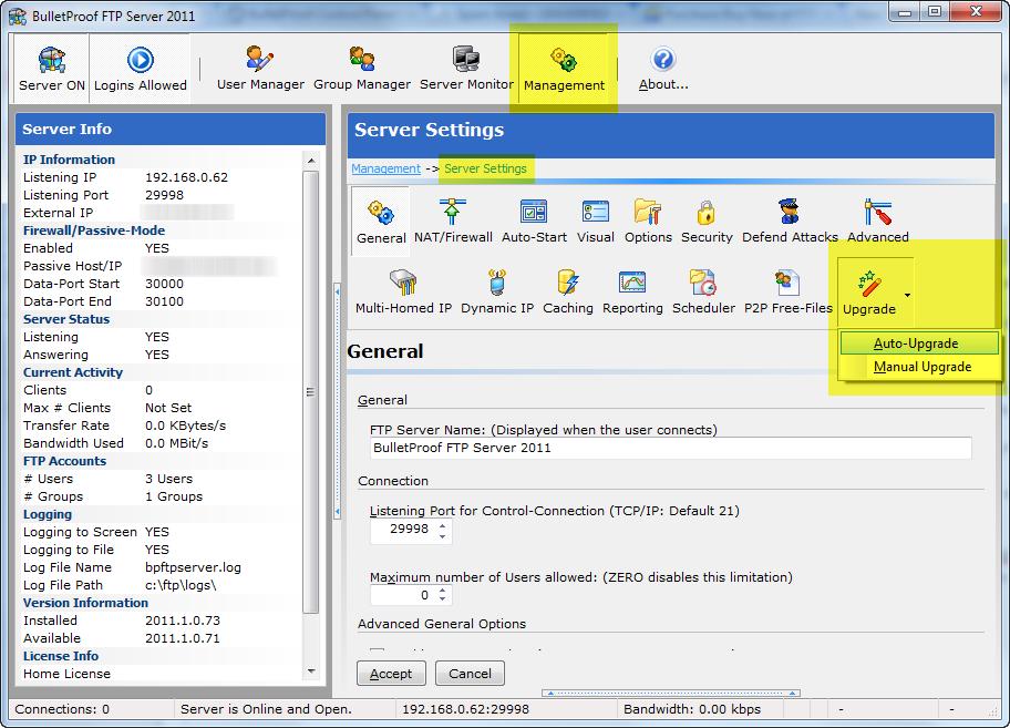 FAQ – BulletProof FTP Server