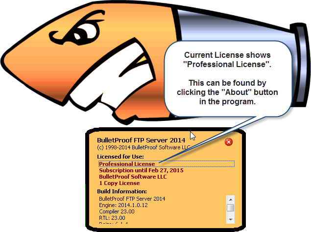 Upgrade License (Step 1 of 8)